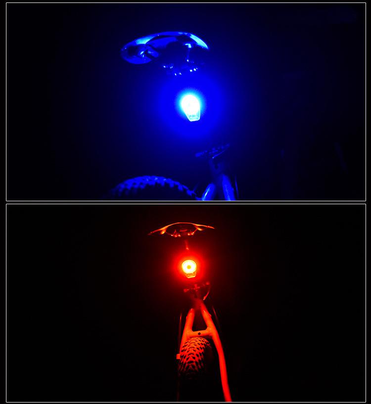 XANES STL02 Smart Bike Tail Light USB Зарядное устройство LED MTB Круглый задний фонарь безопасности - фото 10