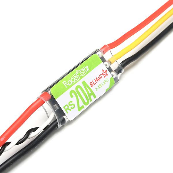 4X Racerstar RS20A 20A BLHELI_S OPTO 2-4S ESC поддержка oneshot42 мультисъемки для РУ FPV Гоночного Дрона - фото 3