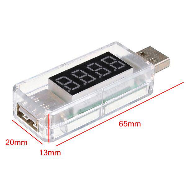 Тестер напряжения Volt Meterr USB Volt с детектором напряжения LCD Digital Дисплей Авто - фото 2