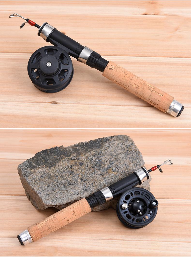 LEO62/65CMСтекловолоконныйтелескопический Рыбалка Род-катушка Combo Mini Pocket Рыбалка Rod Задавать - фото 3
