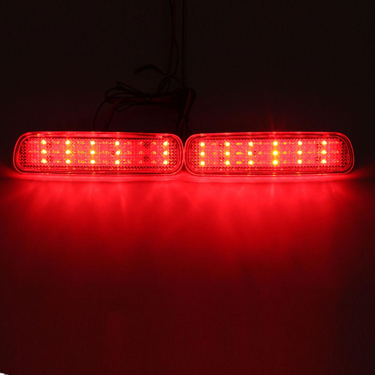 Пара задний бампер отражатель LED тормоз хвост свет сигнала поворота противотуманная фара для LEXUS LX470 - фото 2