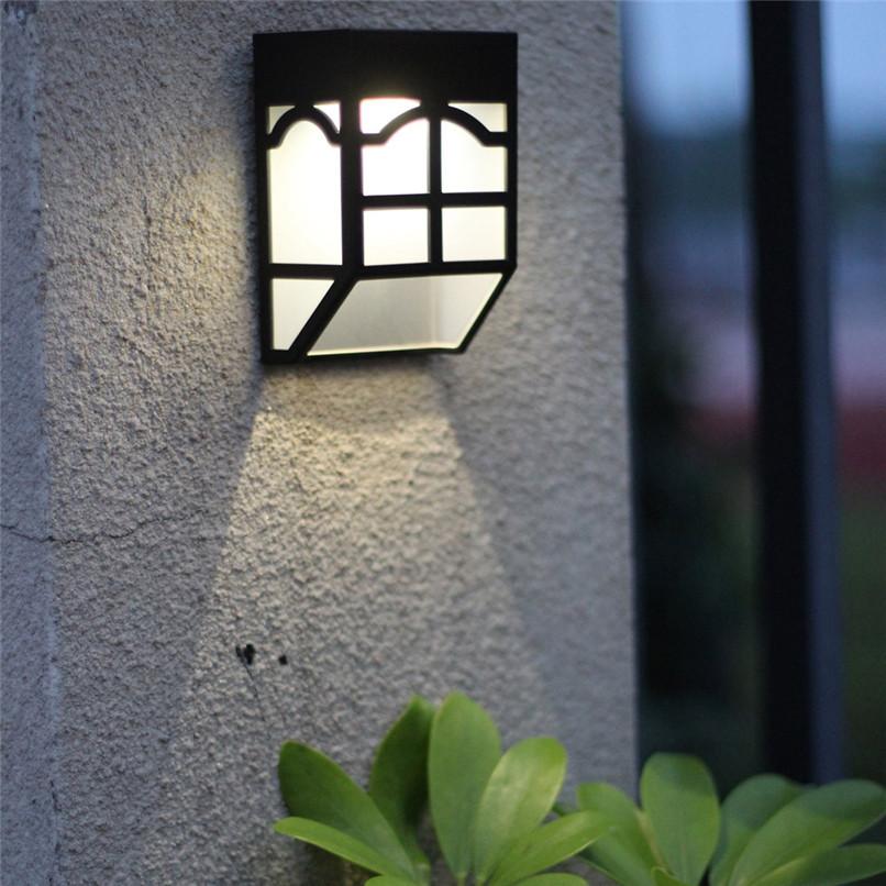 НаоткрытомвоздухеСолнечнаяСадСвет LED Путь стены Пейзаж Mount Light Забор Фонарь Street Лампа - фото 10