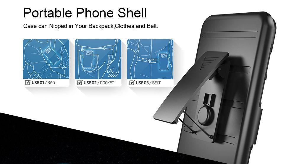 Броня регулируемая Kickstand Чехол для iPhone 7 и iPhone 8 - фото 5
