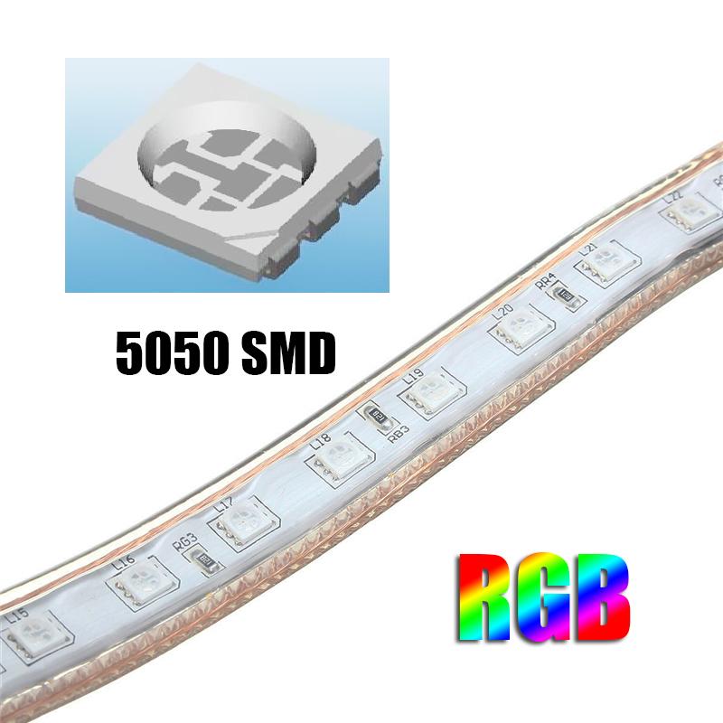 1/2/3 / 5M SMD5050 LED RGB гибкий канат Открытый водонепроницаемый свет прокладки + разъем + пульт дистанционного управл - фото 5