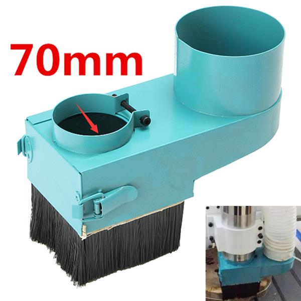 70mm Spindle Dust Shoe Cover Cleaner for CNC Router Engraving Milling Machine