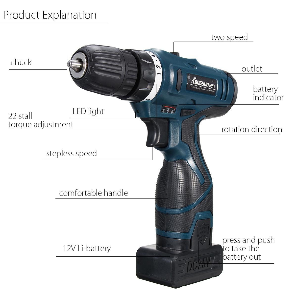Lomvum Cordless Hammer Drill