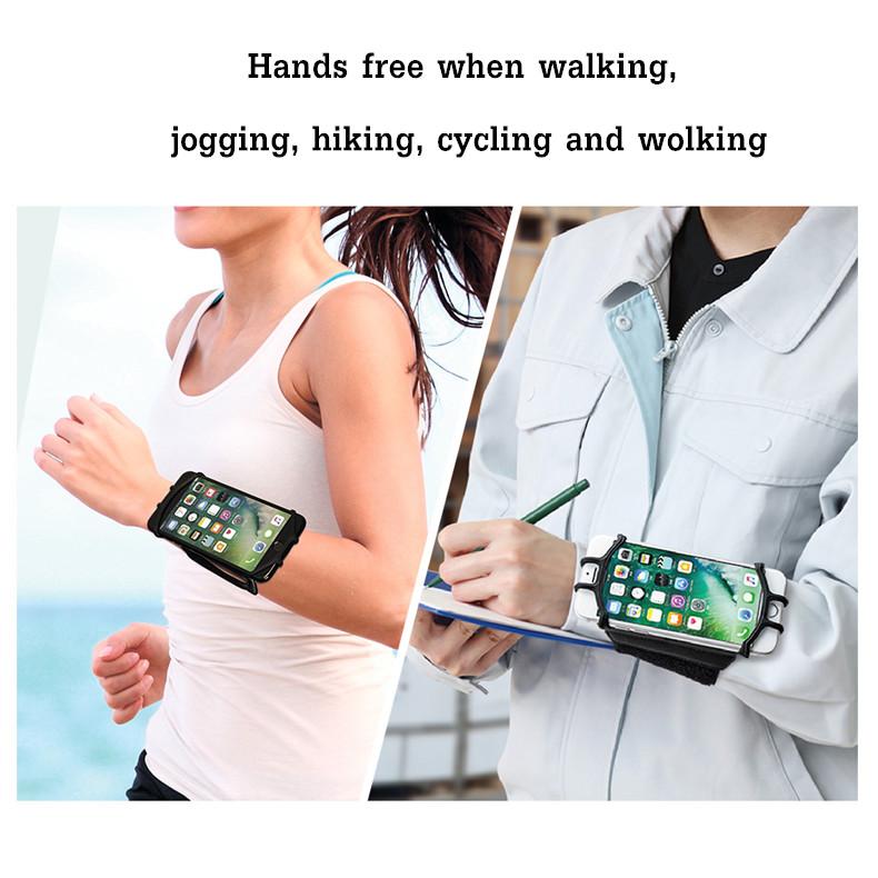 VUP 180 ° Вращение Спорт Запуск Велоспорт Регулируемая запястье Повязка Сумка для 4 - 6 дюймов Смартфон