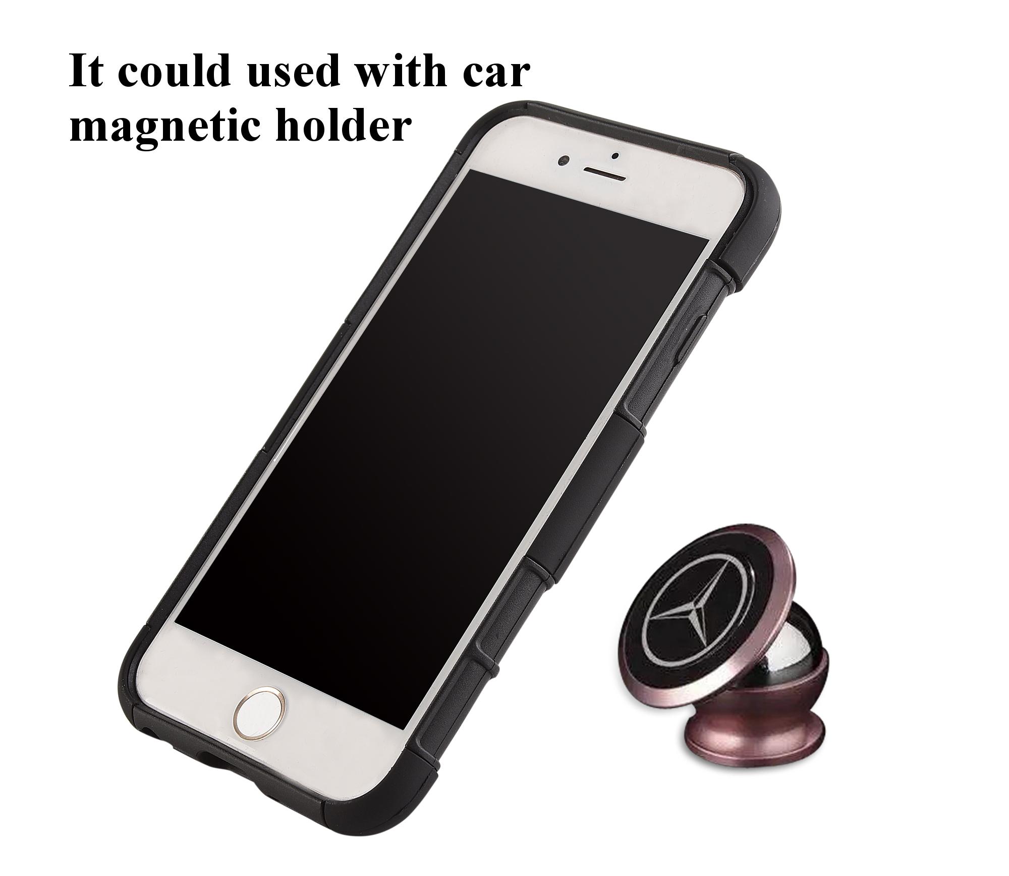 3 в 1 спортивная повязка напульсник кольцо кронштейн крышки случая магнитный телефон iPhone 7 / 6S / 6 - фото 5