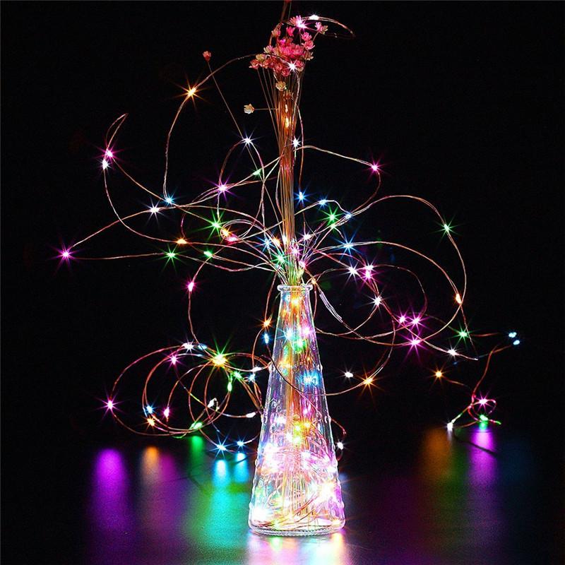 Батарея Powerиздание 10M Водонепроницаемы Четыре режима Опция Серебряный Провод Fairy String Lights For Xmas Party - фото 6