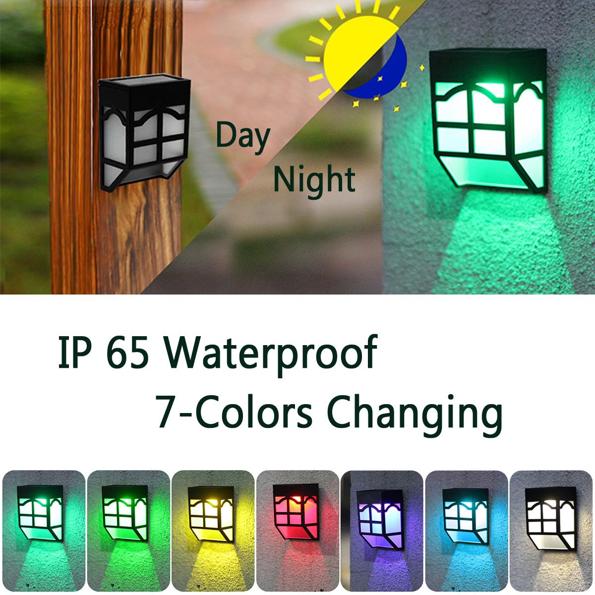 НаоткрытомвоздухеСолнечнаяСадСвет LED Путь стены Пейзаж Mount Light Забор Фонарь Street Лампа - фото 1