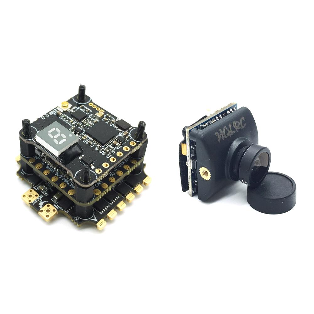 HGLRC XJB F440-TX20.V2-ELF Omnibus F4 FC 40A Blheli_32 ESC 25/100/200 / 350mW VTX 600TVL FPV камера - фото 2