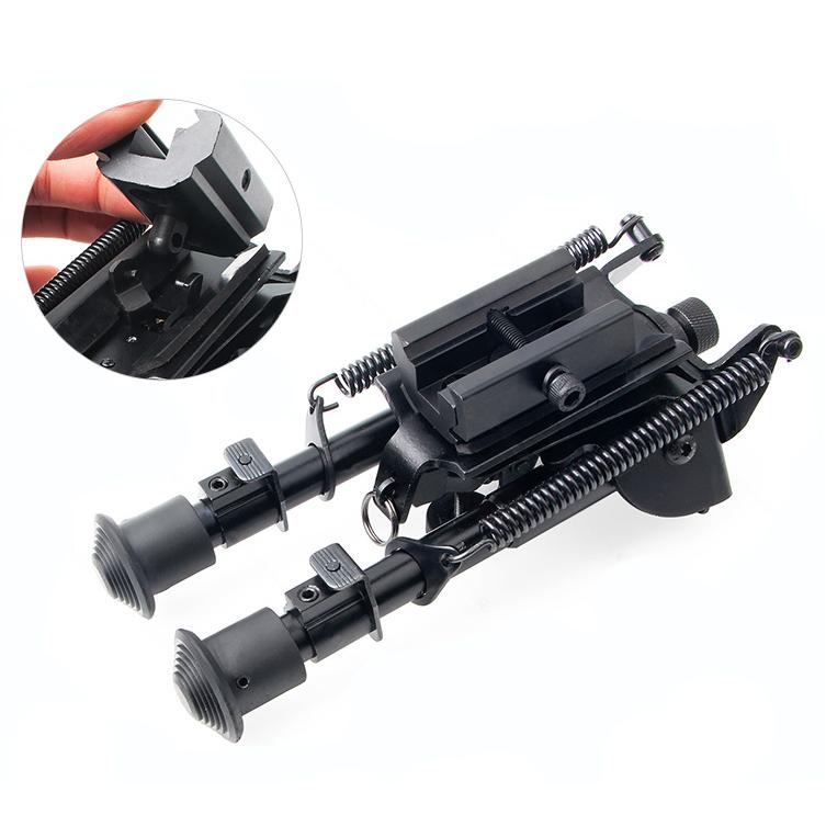 Регулируемая тактическая сопка Сошка пулемета 6-9 дюймов с пружинным креплением - фото 8