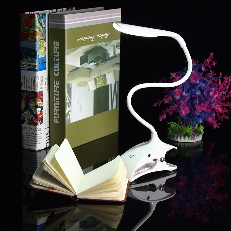 Dimmable USB аккумуляторная Touch Датчик LED Зажим для столового стола Лампа - фото 2