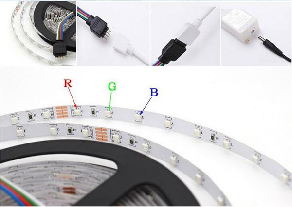 5M SMD 3528 300 Водонепроницаемы LED RGB Strip Гибкая подсветка 24 ключа IR пульт + адаптер питания DC12V - фото 804f5f77-8afc-4eeb-b2f7-e374a2b41c8f.jpg