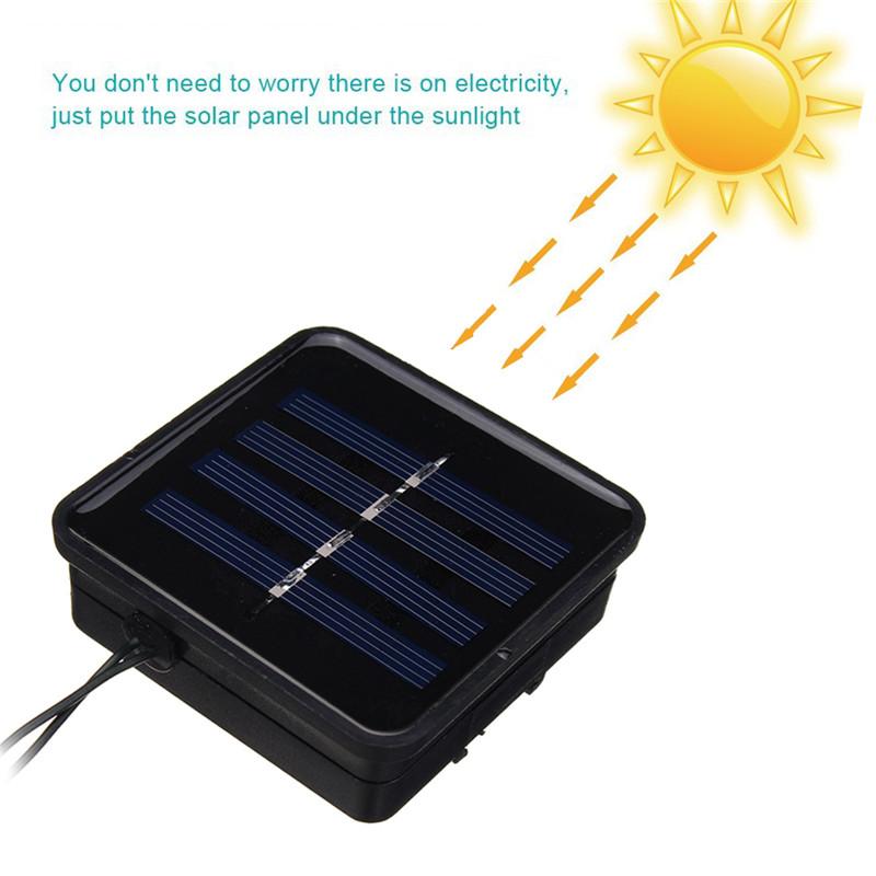 Солнечная Powered 5M 20LEDs Водонепроницаемы Honey Bee Fairy String Light для Сад Yard Christmas - фото 5