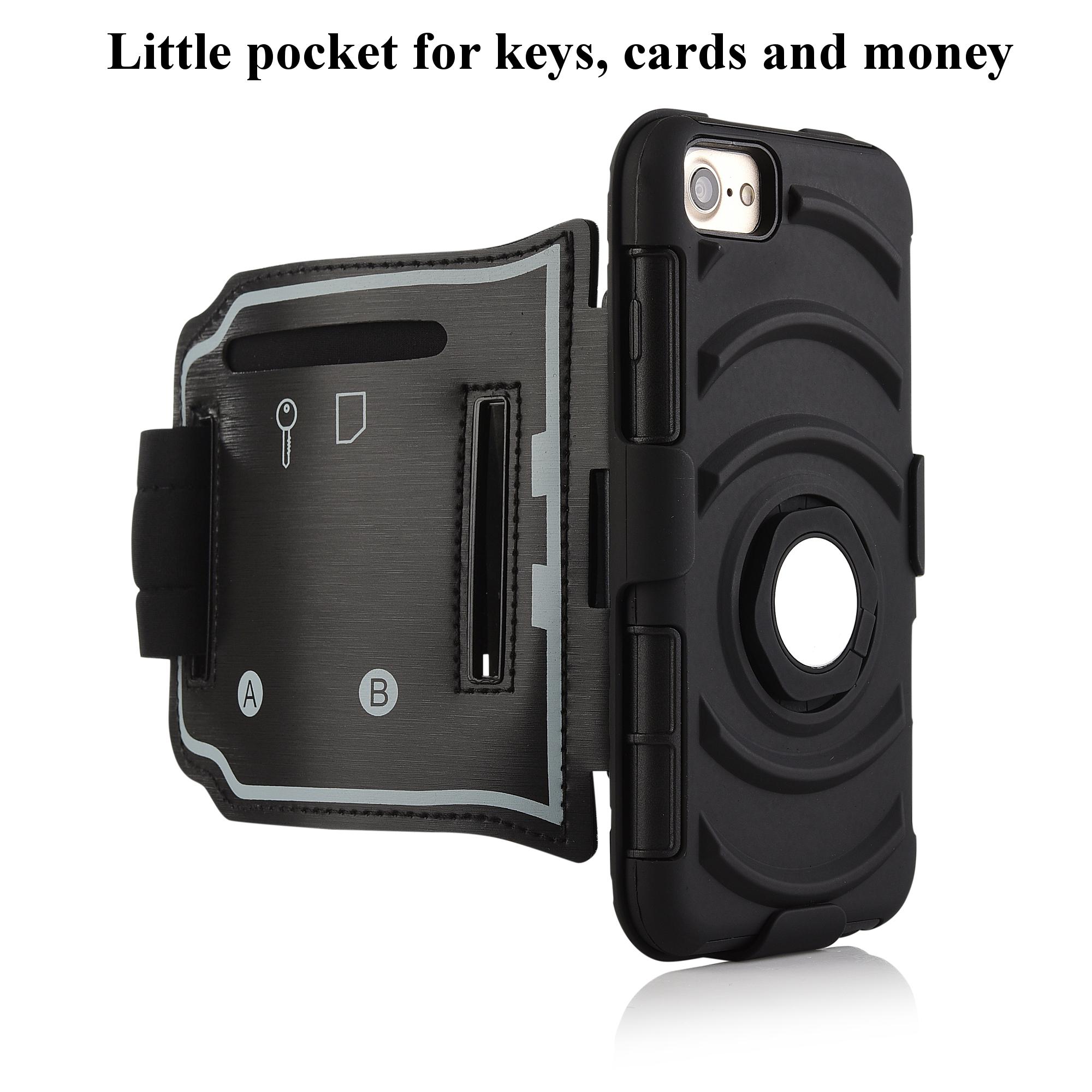 3 в 1 спортивная повязка напульсник кольцо кронштейн крышки случая магнитный телефон iPhone 7 / 6S / 6 - фото 7