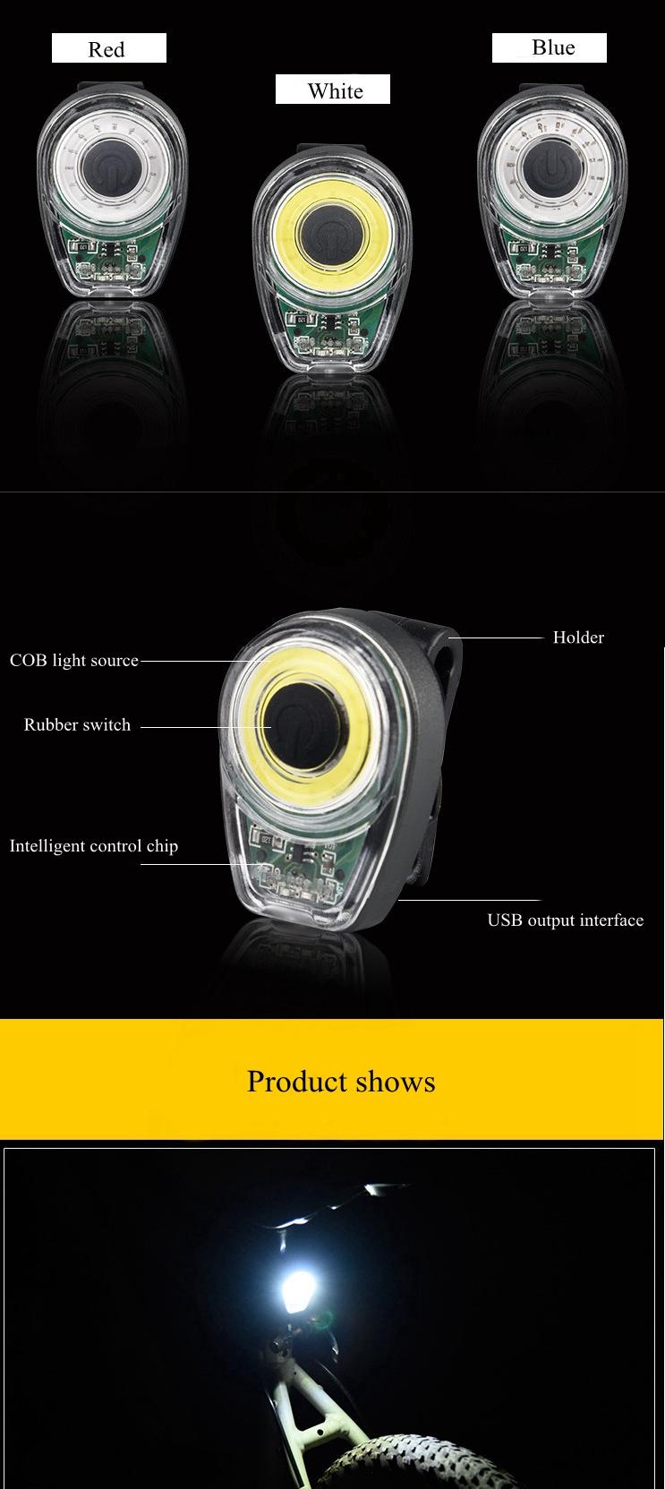 XANES STL02 Smart Bike Tail Light USB Зарядное устройство LED MTB Круглый задний фонарь безопасности - фото 9