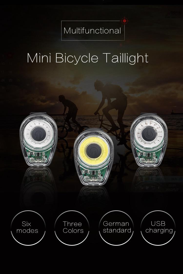 XANES STL02 Smart Bike Tail Light USB Зарядное устройство LED MTB Круглый задний фонарь безопасности - фото 1