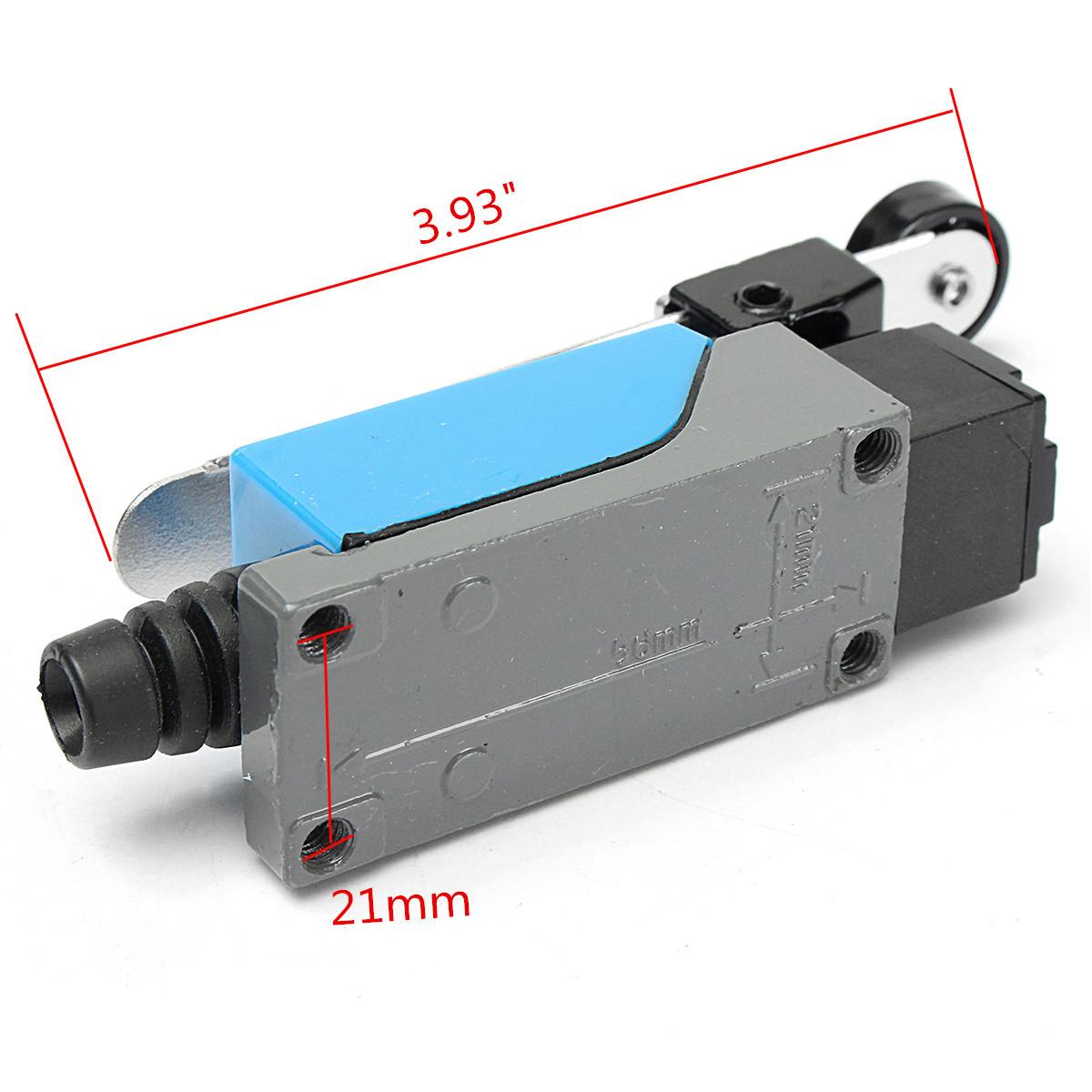 Excellway® 5шт. Предельный выключатель AC 250V 5A Регулируемый поворотный рычаг Ролик - фото 2