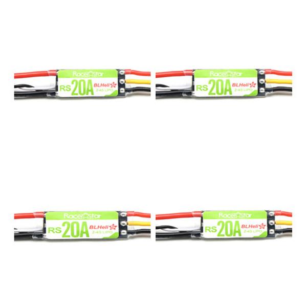 4X Racerstar RS20A 20A BLHELI_S OPTO 2-4S ESC поддержка oneshot42 мультисъемки для РУ FPV Гоночного Дрона - фото 1