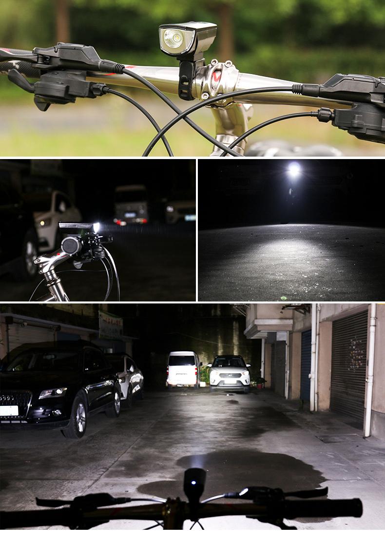 XANES SFL02 600LM T6 Smart Induction Bicycle Light IPX4 USB Перезаряжаемый 80 ° Большой прожектор - фото 6