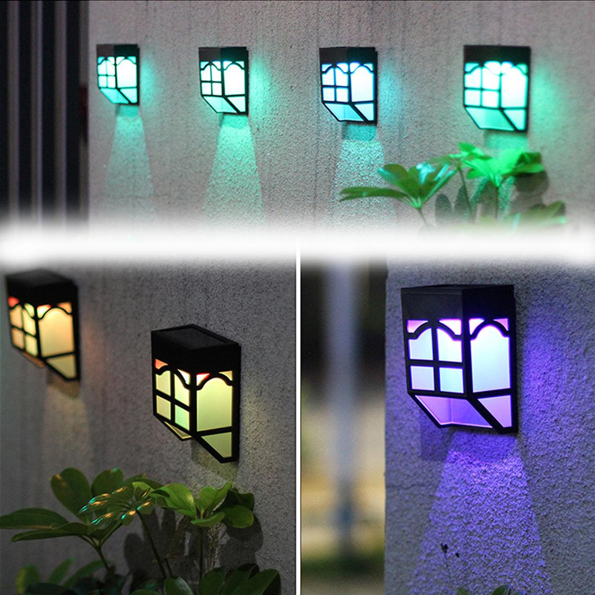 НаоткрытомвоздухеСолнечнаяСадСвет LED Путь стены Пейзаж Mount Light Забор Фонарь Street Лампа - фото 3