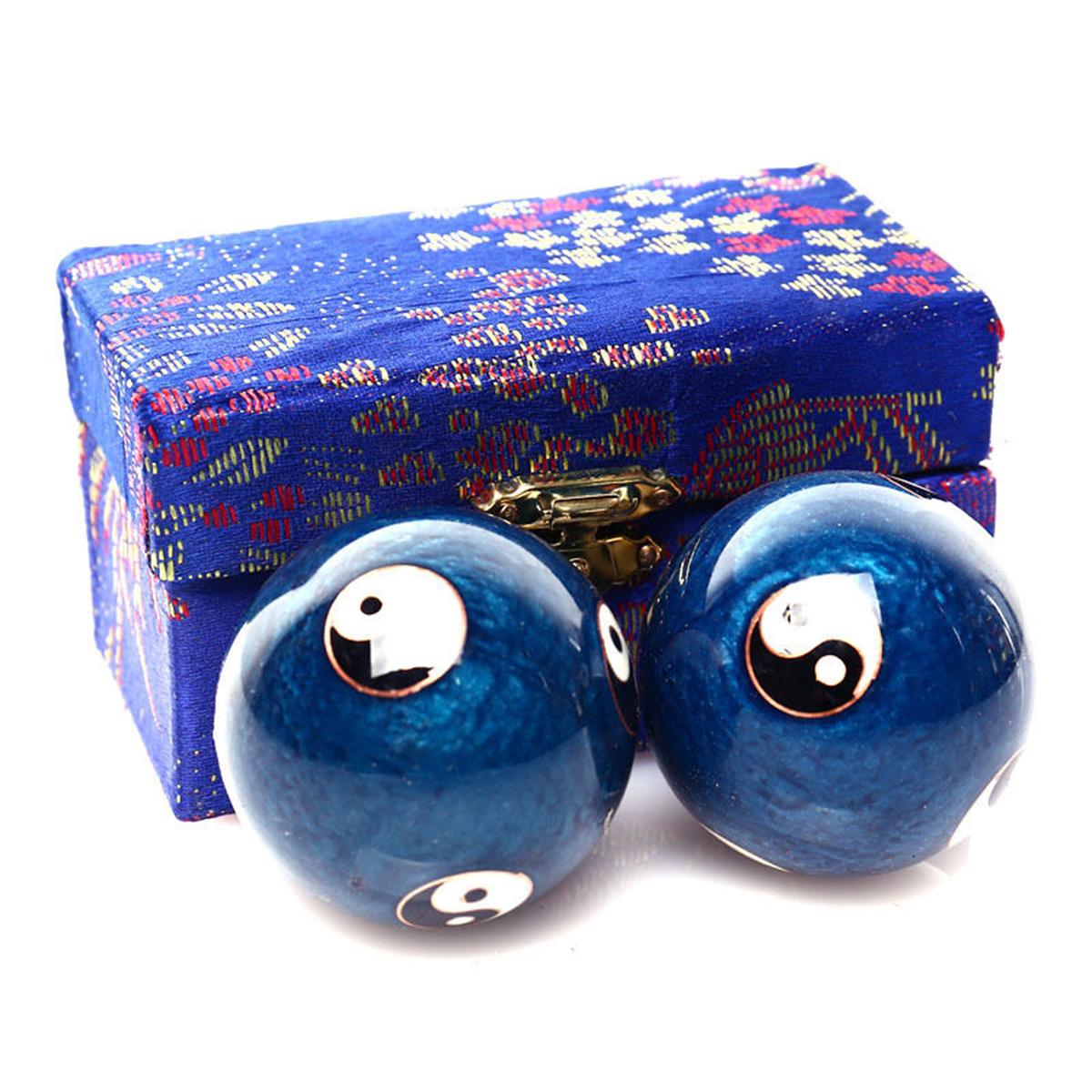 Китайский Здоровье Ball Ежедневный Упражнение Стресс Relief Гандбол Терапия Massager Balls - фото 3