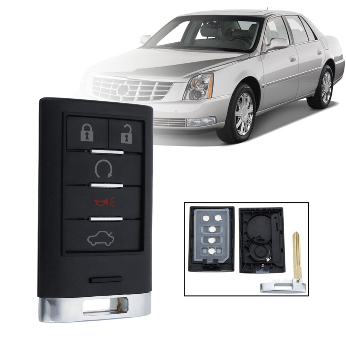 5 Кнопка Дистанционный Key Fob Keyless Entry Shell C Клинок для Cadillac CTS DTS STS XTS - фото 1