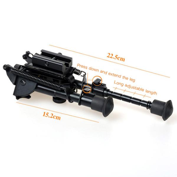 Регулируемая тактическая сопка Сошка пулемета 6-9 дюймов с пружинным креплением - фото 9