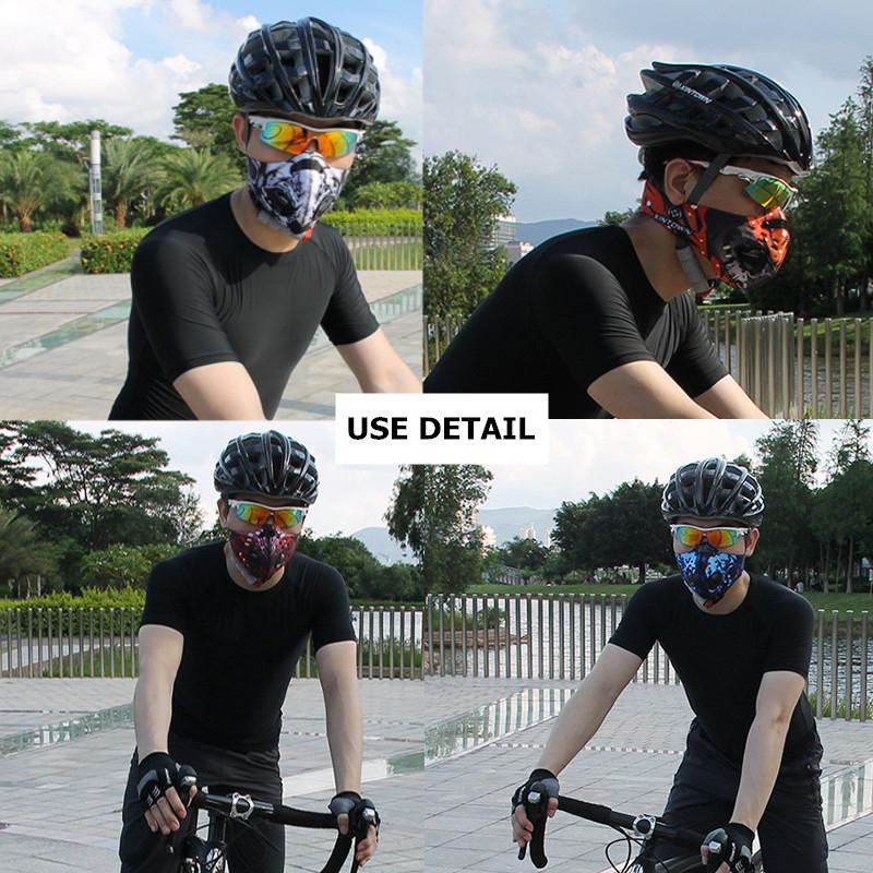 BIKIGHT Активированный уголь Анти Пылеудаление Велосипед Велоспорт Half Face Маска Фильтр - фото 7