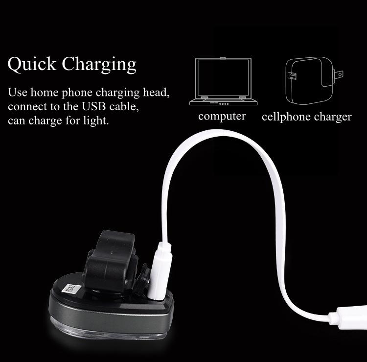 XANES STL02 Smart Bike Tail Light USB Зарядное устройство LED MTB Круглый задний фонарь безопасности - фото 7