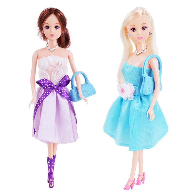 Кукла Платье Up Princess Свадебное Пластиковый подарок высокого конца Коробка Куклаs Action Figure - фото 2