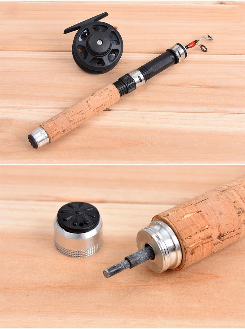 LEO62/65CMСтекловолоконныйтелескопический Рыбалка Род-катушка Combo Mini Pocket Рыбалка Rod Задавать - фото 4