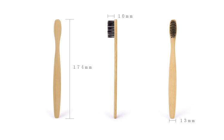 4шт экологически чистый бамбук уголь мягкие тонкие щетина бамбуковой ручкой ручной toothbrushs для взрослых