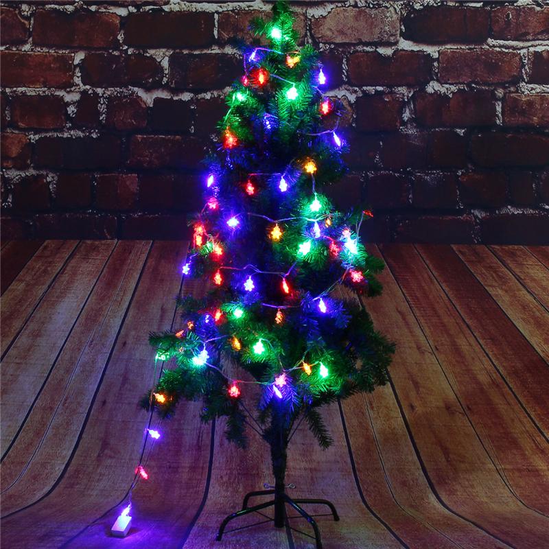 9,5M 75LEDs 8 режимов Многоцветный снежинка Fairy String Light для Рождества AC220V - фото 5