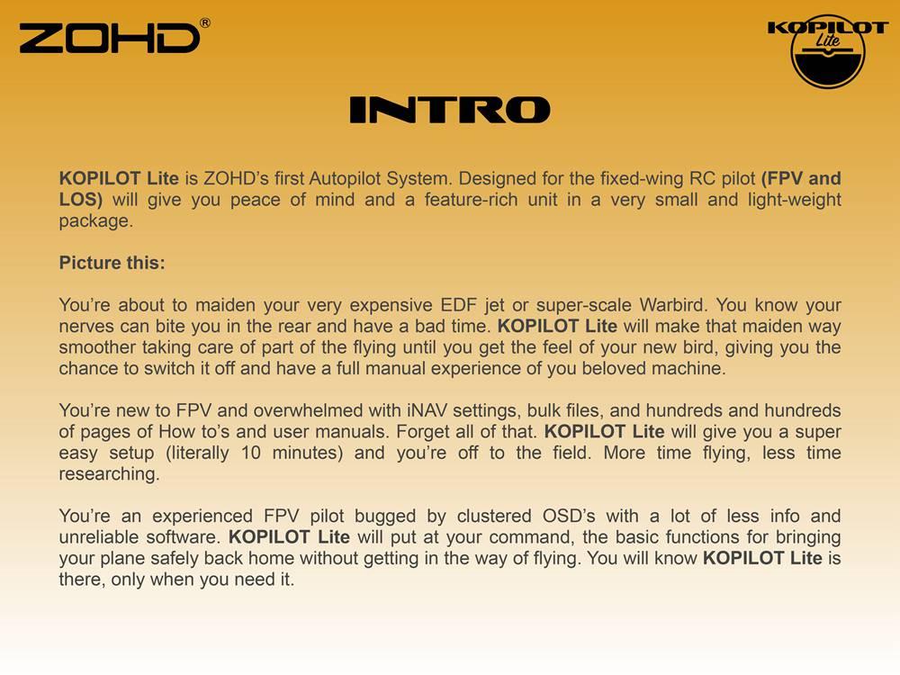 Контроллер полета ZOHD Kopilot Lite с системой автопилота с GPS модуль Возвращение домой Гироскоп стабилизации для самол - фото 7a8df413-c8ee-4e03-b1b2-f6eed324d905.jpg