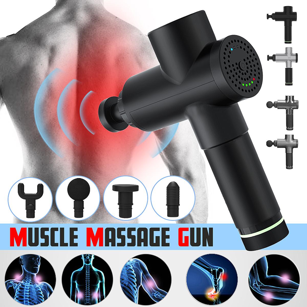 1500 мАч мышечной релаксации 3 скорости электрический массажер ударный массаж глубокий массажер ткани беспроводное устро - фото 2
