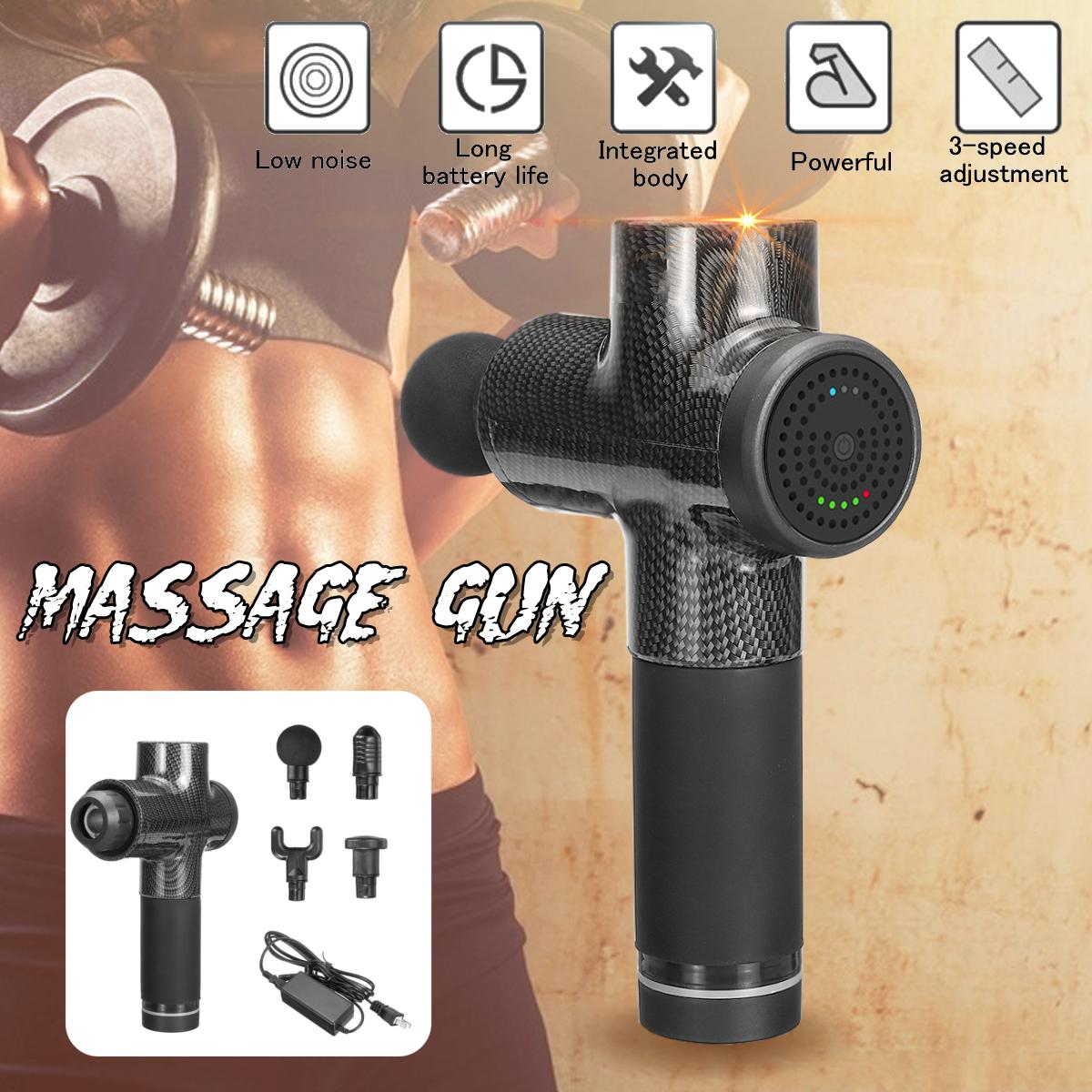 1500 мАч мышечной релаксации 3 скорости электрический массажер ударный массаж глубокий массажер ткани беспроводное устро - фото 3