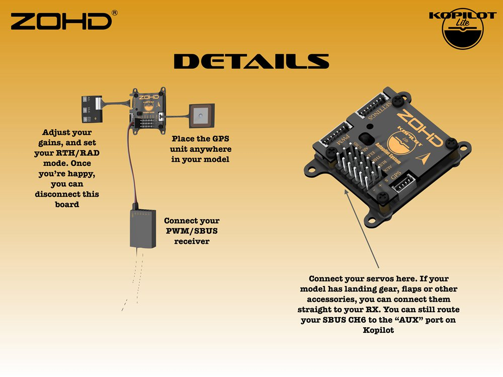 Контроллер полета ZOHD Kopilot Lite с системой автопилота с GPS модуль Возвращение домой Гироскоп стабилизации для самол - фото 1eb22a6c-d0a2-4d34-8332-364f2e6fe728.jpg