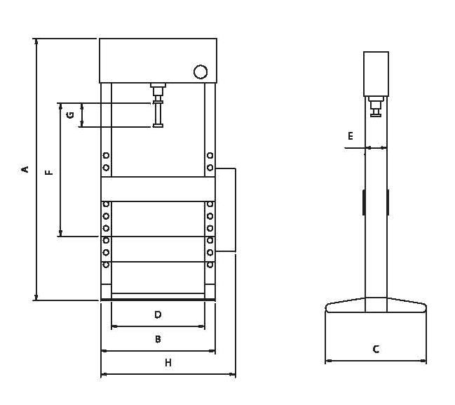 OMA656S Пресс гидравлический 30 т, с ножным приводом Werther-OMA - фото 2205_bayK8pSCPM.jpg