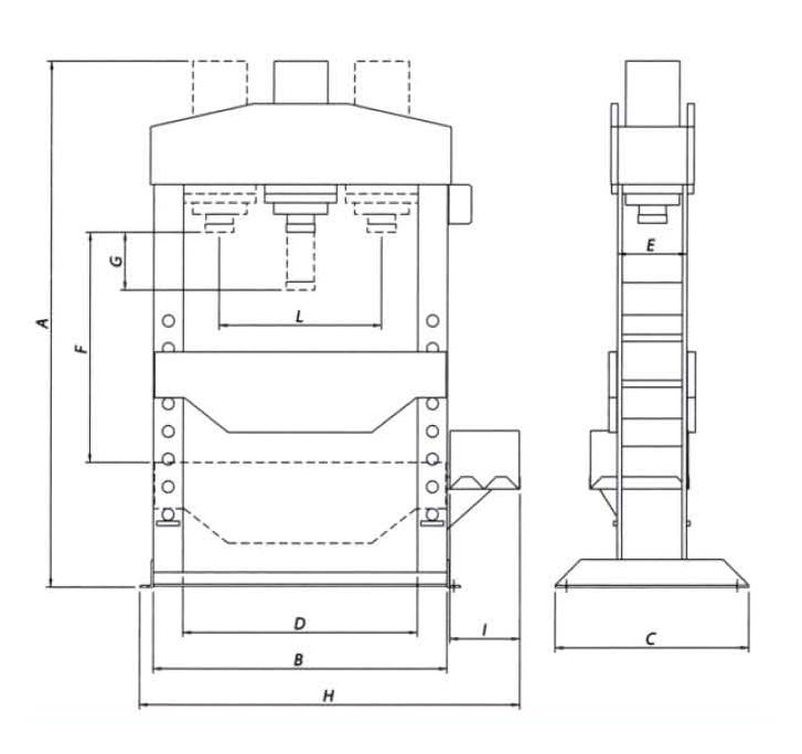 OMA666 Пресс напольный 100т электрогидравлический - фото 2207_mFNhPh55nV.jpg