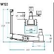 Werther-OMA W122(OMA635) Домкрат пневмогидравлический двухступенчатый, г/п 60/30 т.
