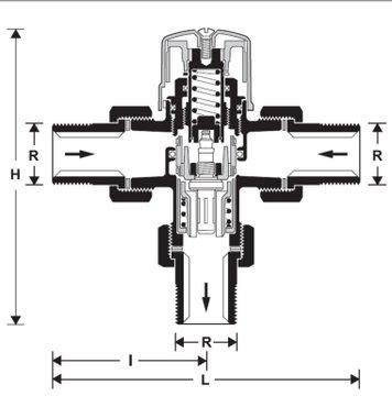 Термосмесительный клапан Honeywell TM200-3/4 A. С защитой от ошпаривания. - фото alt text
