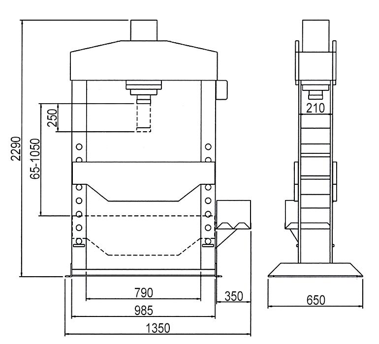 Схема электрогидравлического пресса Werther PRM50 (OMA 665)