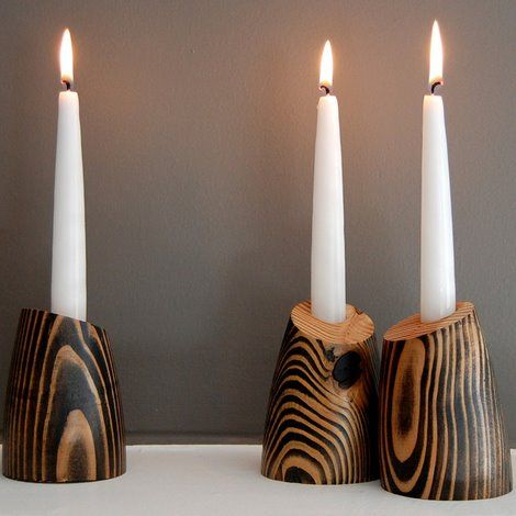 Форма для стеариновый свечи 5,1 мм Х 160 мм на 10 шт - фото Design Candleholders by Jean Pelle - Tod and Billie candle holders