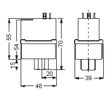 Габаритные размеры и чертеж регуляторов скорости вращения Alco Controls серий FSY/FSM - 41S/42S