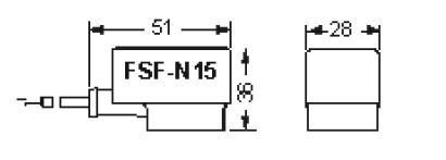 Габаритные размеры и чертеж кабель в сборе FSF Alco Controls