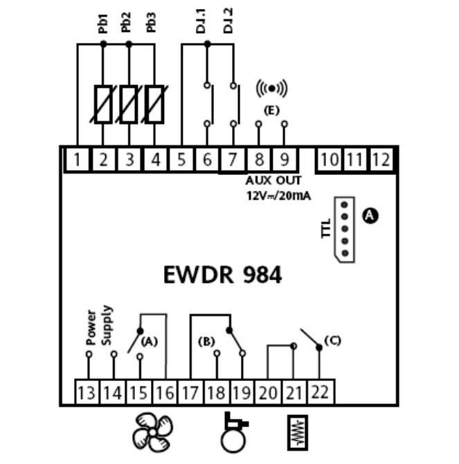 Схема подключения EWDR 984
