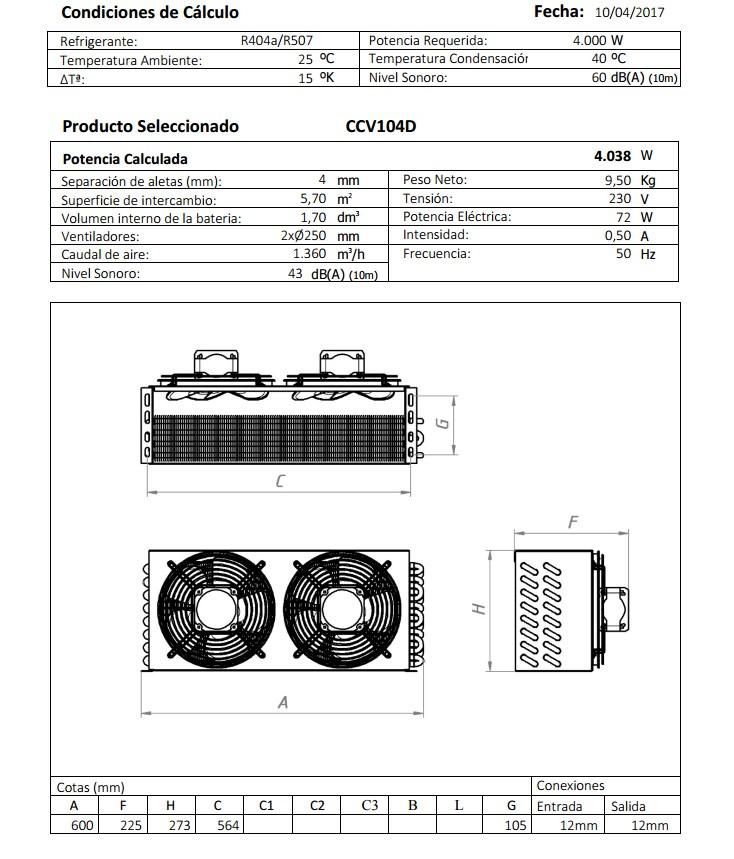 Габаритный чертеж и технические характеристики CV104D