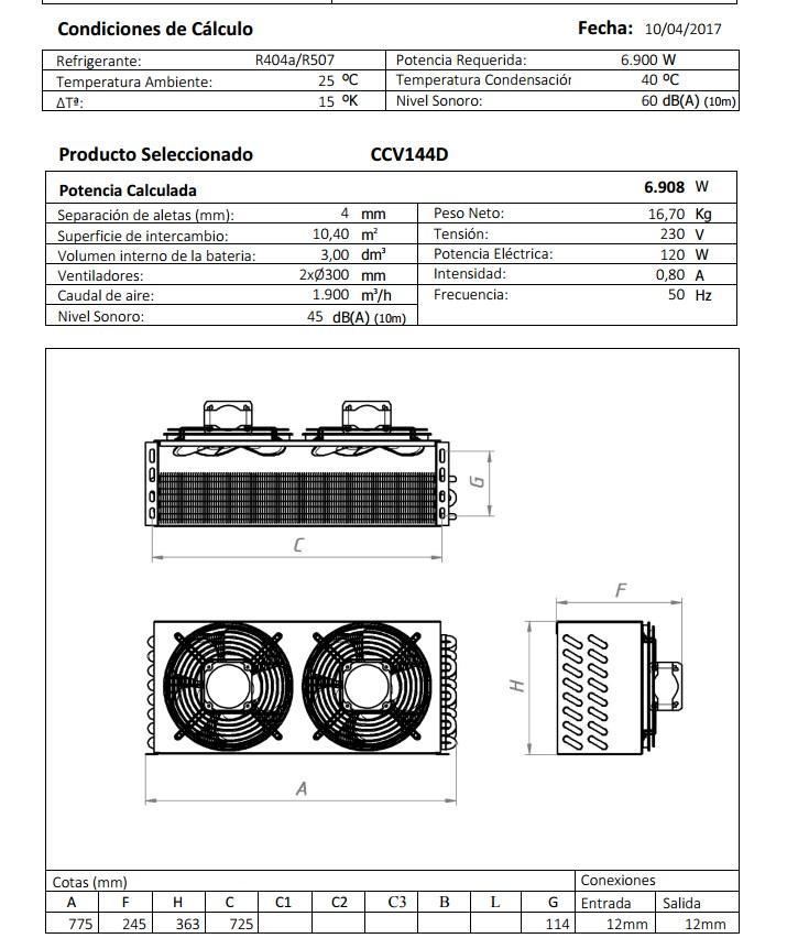 Габаритный чертеж и технические характеристики CV144D
